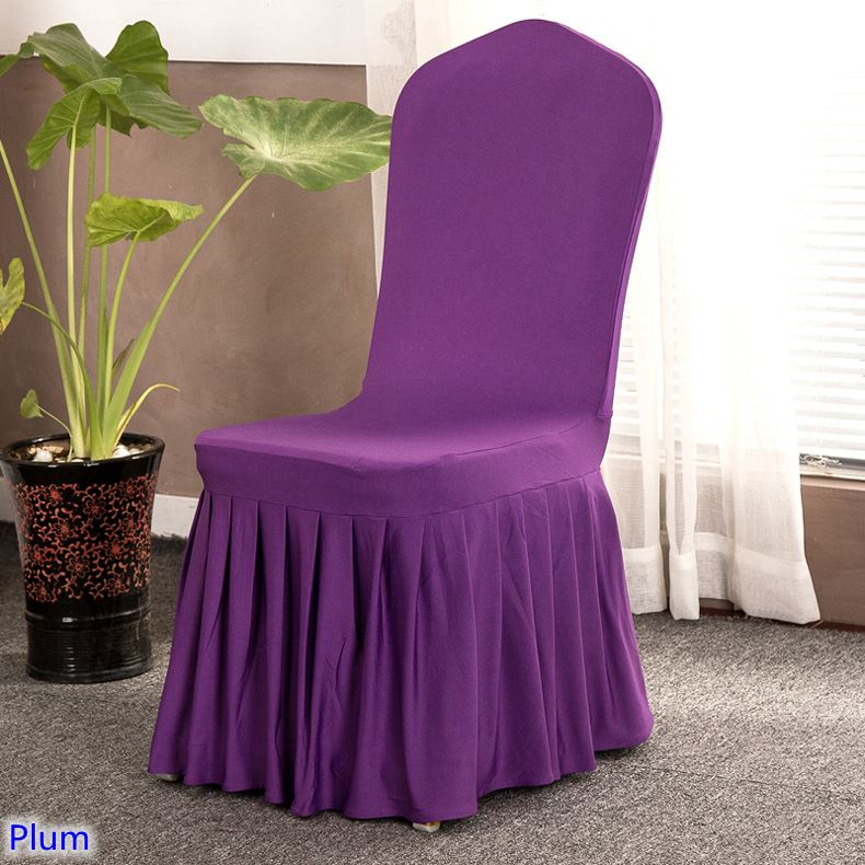 Plum Colour Lycra Chair Cover
