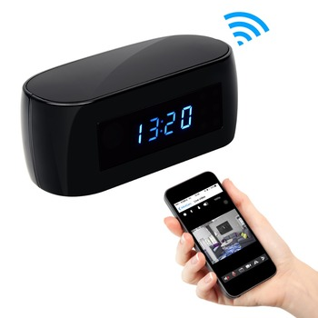 Hot Sale WiFi Night Vision Table Clock Wireless Motion Detection Electronic Clock Camera