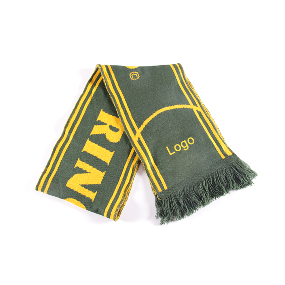 With BV test report high quality knitting hockey fan scarf