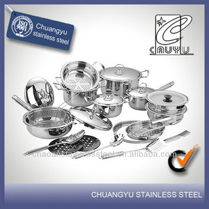 stainless steel capsule bottom heavy duty cookware