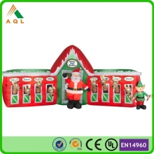 Useful newest funny santa outhouse christmas inflatable decoration