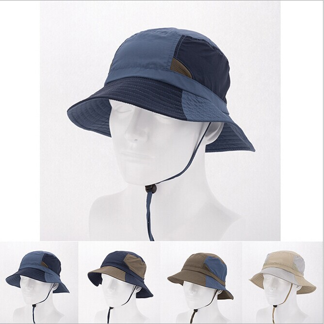 fd5598843ec Get Quotations · 2015 Summer Casual Men Women Outdoor Sun Hat Breathable  Anti-UV Quick-Drying Bucket