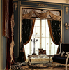 Eelegant Villa Valance Door Curtain, Magnificent Pleat Drape Curtain For Living Room Entrance Door