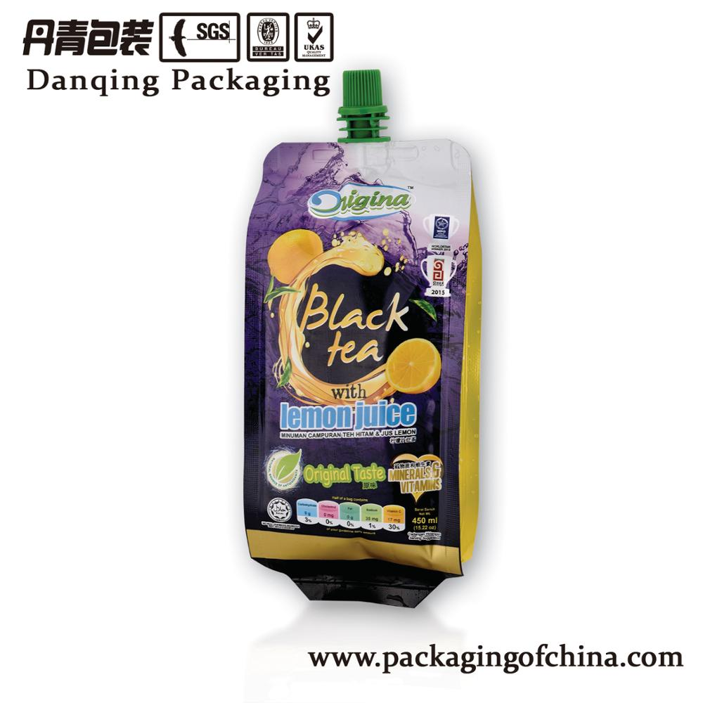 China suppliers packaging plastic pouch with spouts for beverage
