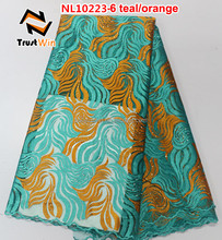 Teal,orange,fushia,purple,gold ,yellow color and Tulle Fabric Type high quality tulle lace