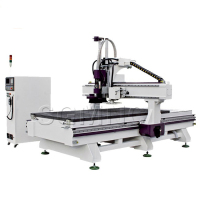 China manufacture Automatic tool changer 3d wood carving cnc router , computer control auto tool changer cnc machine