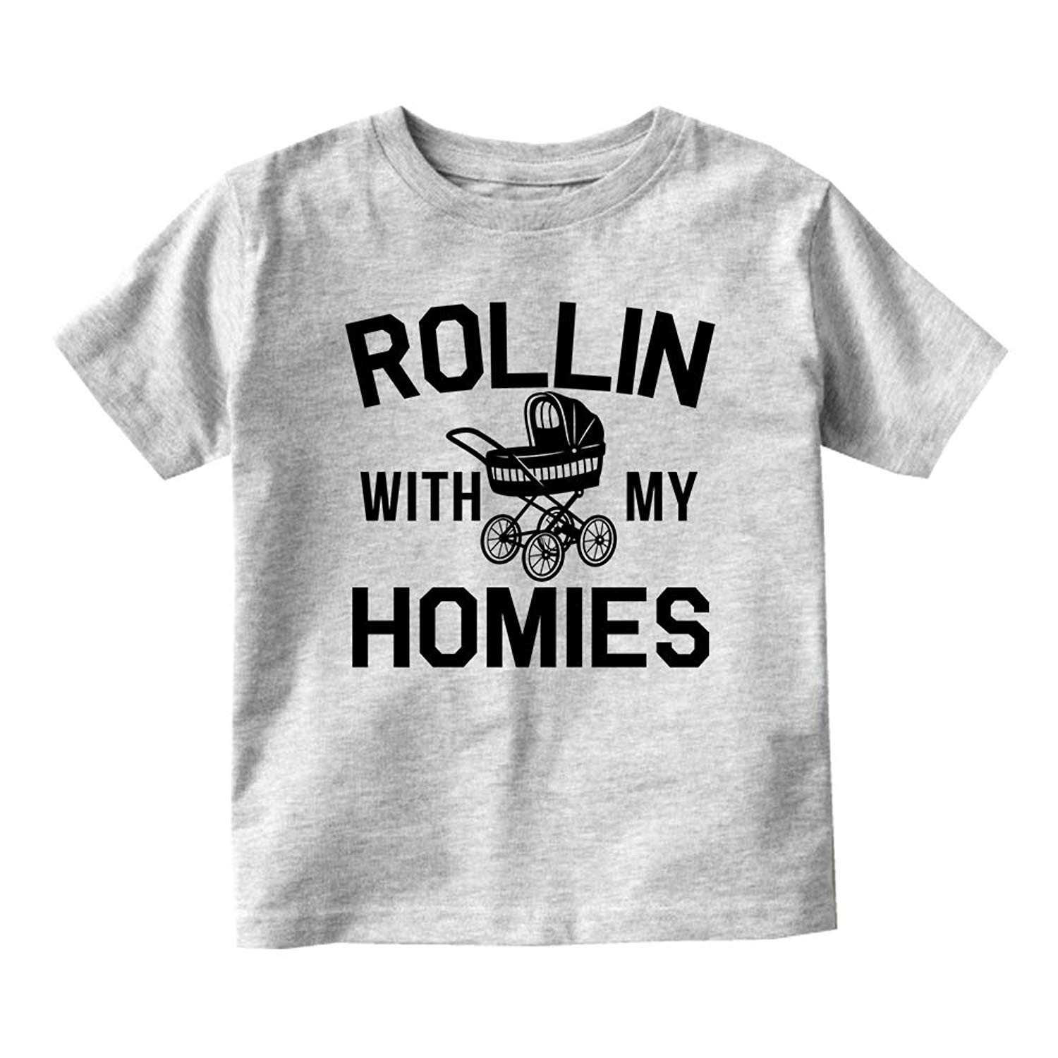 9c204f6d Get Quotations · Kids Streetwear Rollin with My Homies Stroller Baby  Toddler T-Shirt Tee
