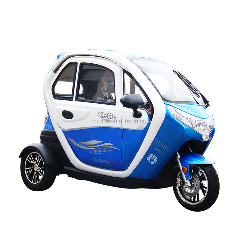 3 Wheel fully closed Mini Adults Handicapped Electric Tricycle with EEC certificate
