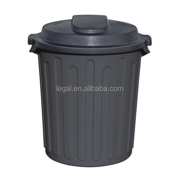 Small Outdoor Trash Can With Locking Lid Metal Plastic