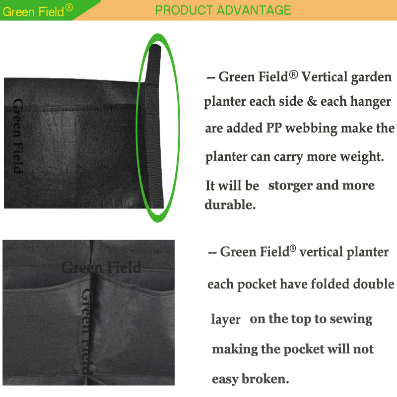 Felt Hanging Planter, Vertical Garden Green Wall Pocket