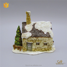 ED12432A Wholesale Christmas Ornament Suppliers Wholesale Miniature Resin Houses Ornaments