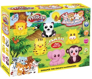 Good quality 3D Animal world play dough modeling plasticine for sale