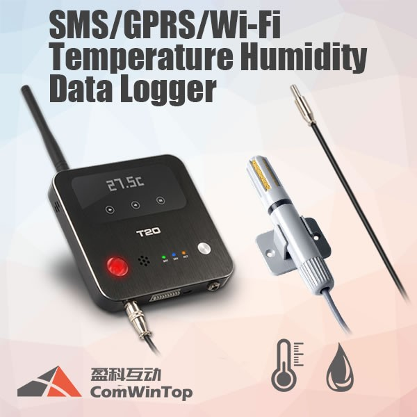 2017 Hot wireless remote gsm sms 2g 3g 4g gps gprs wifi alarm control data logger monitor temperature humidity sensor