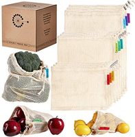 Best Reusable Produce Bags for Grocery Shopping & Storage,100% cotton mesh biodegradable bag