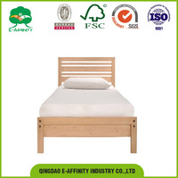 JG-SR-021 pine wooden single cheap price solid wooden bed
