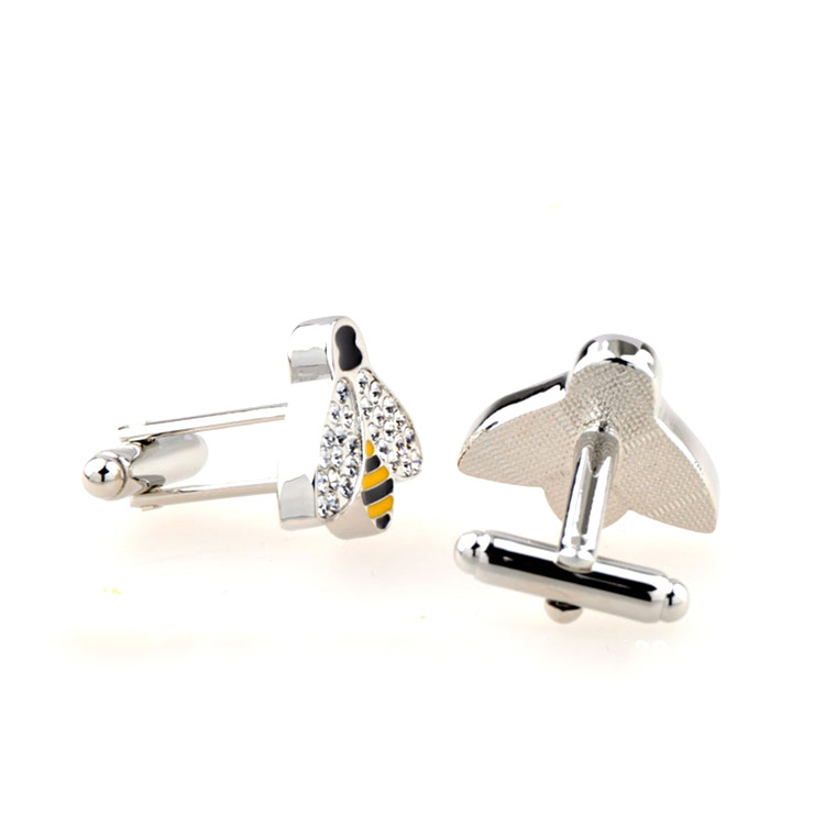 Wholesale Funny Cartoon Bee Cuff Links