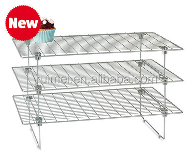 3 Tier Stackable Wire Bread Cooling Rack