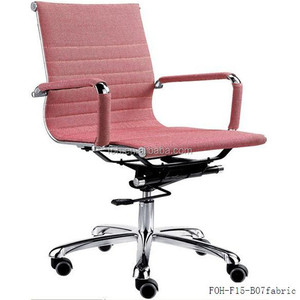 best price for swivel office chair pink soft pad office chair (FOH-F15-B07)