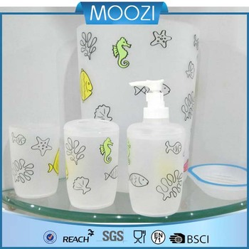 Whole Low Price Bath Accessories Set Including Pp Seashell Soap Dispenser