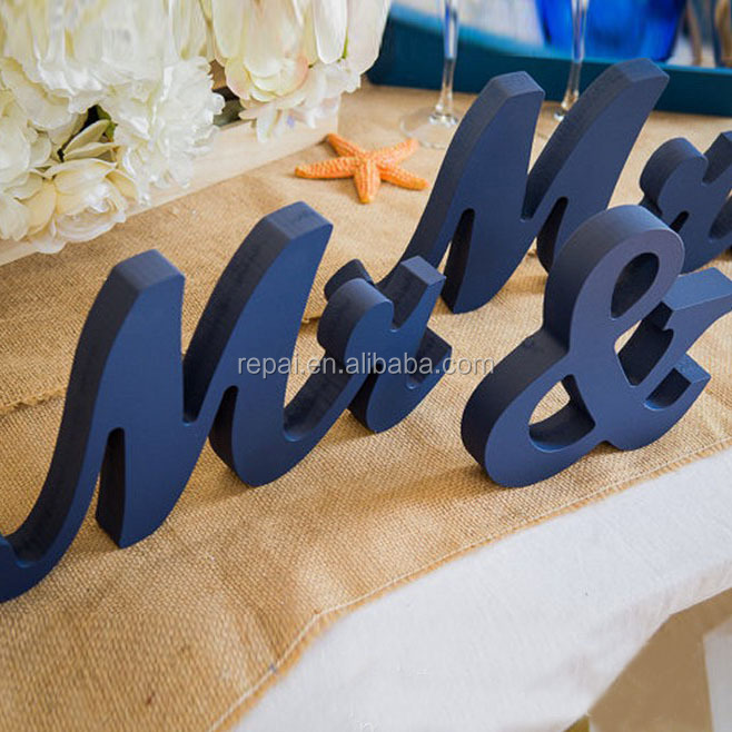 Mr and Mrs Table Signs for Wedding, Standing Letters for Sweetheart Table Decor