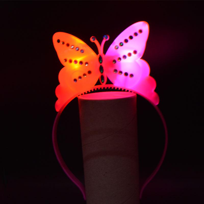 Women Girl Light Blinking LED Butterfly Headband font b Fancy b font font b Dress b