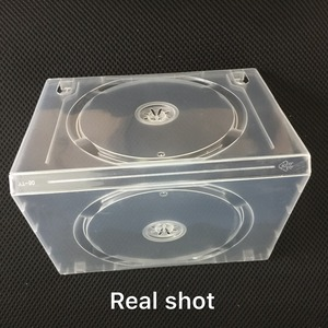 China wholsale clear transparent cd dvd case with Lock