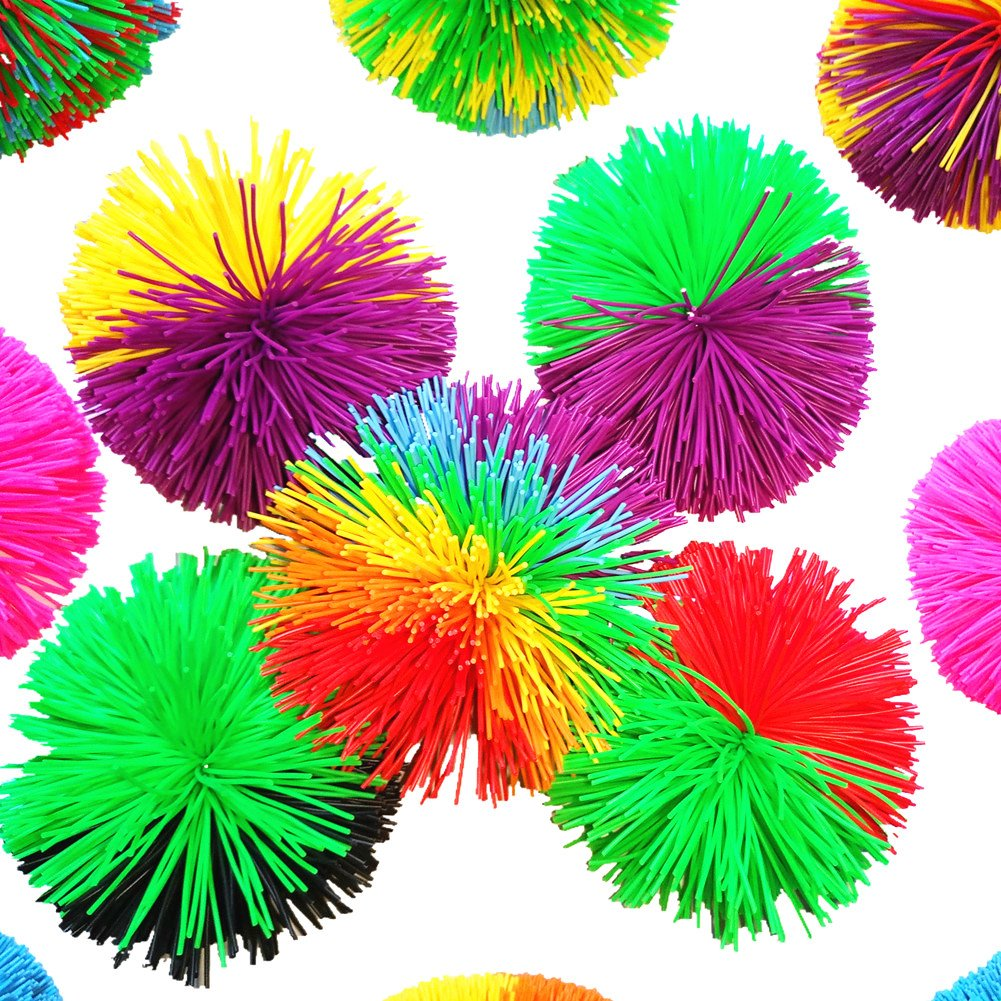 "13 Colors 3""Colorful Silicone Koosh Ball Sport Paddles Ball Stress Toys Sensory Fidgets Toys (12 color/lot)"