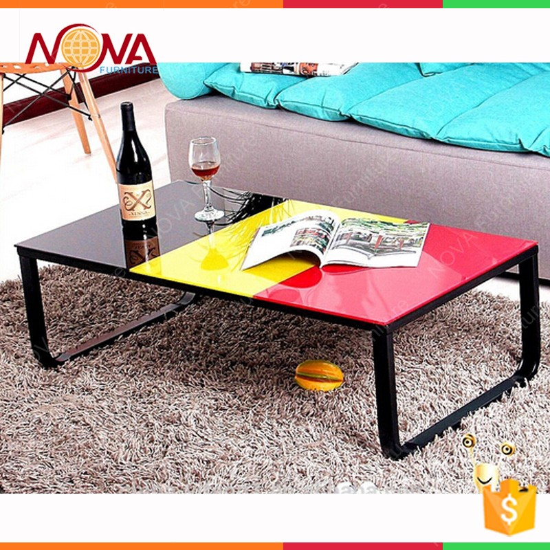 Wholesale Modern Tempered Fancy Large Square Glass Coffee Tables