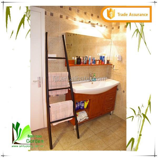 Ladder Vorm Badkamer Vrijstaand Bamboe Handdoekenrek - Buy Bamboe ...