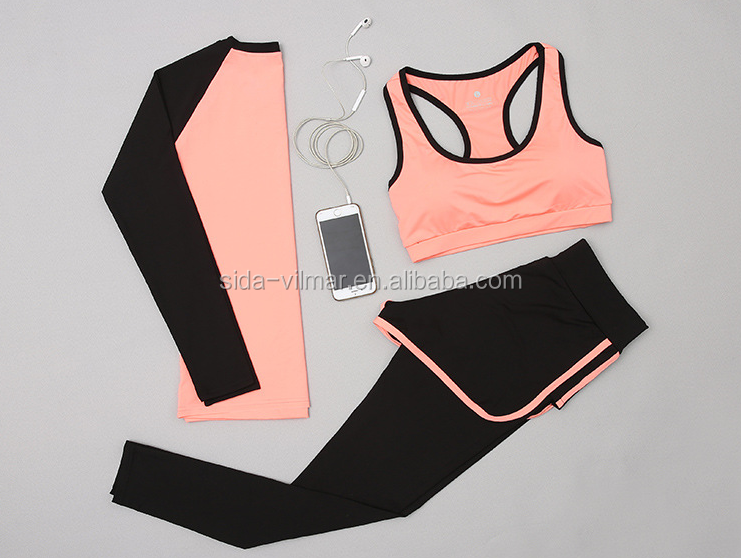 Hot sales Women Yoga Set Running Bra & Pants Gym Workout Fitness Clothes Tights Sport Wear