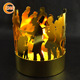 wholesale custom metal circle of friends candle holder cheap on sale