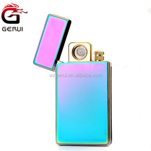 Novelty Electronic Double Sided Ignite Flameless Tobacco Cigarette Lighter with Match