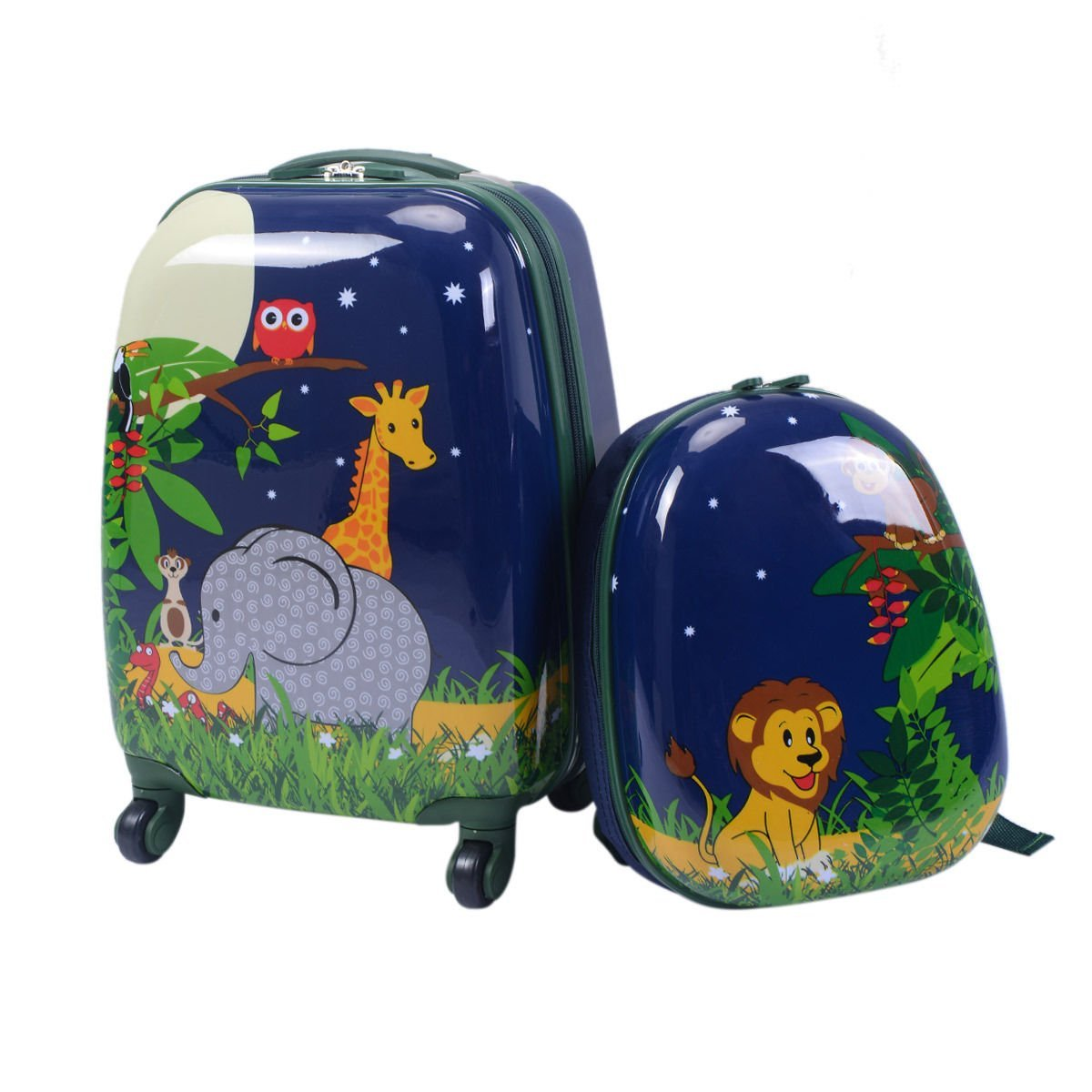 Set of 2 Pcs Kids School Luggage Penguin Shaped Suitcase /& Backpack With Ebook