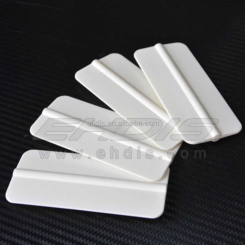 4 inch PP soft material tools for wrapping car vinyl firm with flexible cheap plastic car squeegee
