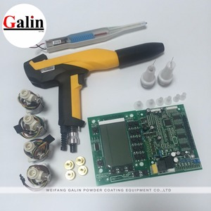Electrostatic Powder coating equipment GLQ spray gun WITH cascade and PCB price