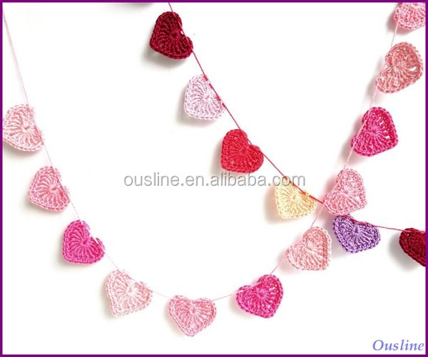 Ganchillo Corazones Decoracioncorazones Garland Buy Product On - Corazones-de-decoracion