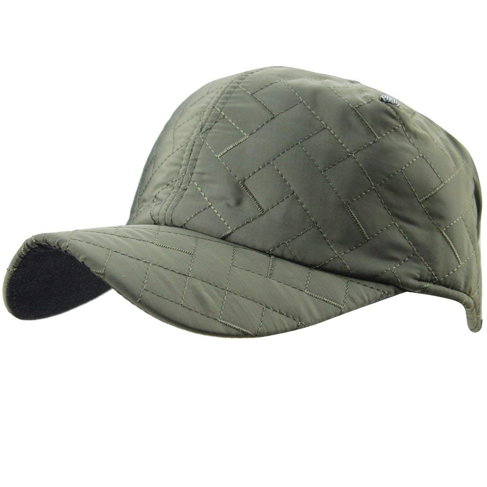 eYourlife2012 Mens Winter Plaid Quilting Cotton Padded Outdoor Baseball Cap Hats With Earflaps