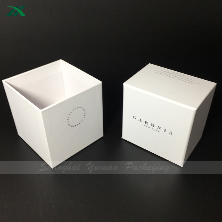 elegant two pieces gift box for round candles