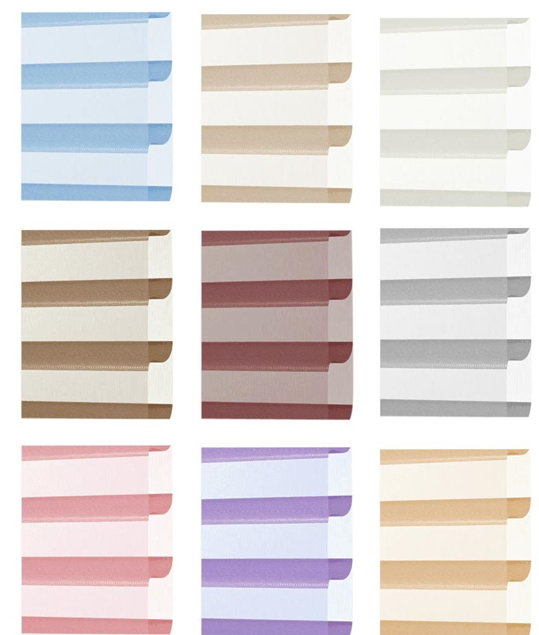 Shangrila style rainbow colored window blinds
