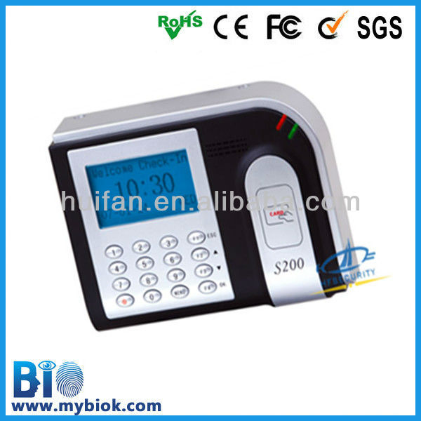 Monthly selling 1,000 units punch card time clock/time recorder -S200