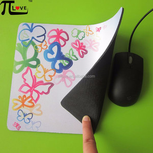 Guangzhou factory manufacture cloth mouse pad with colorful butterfly design