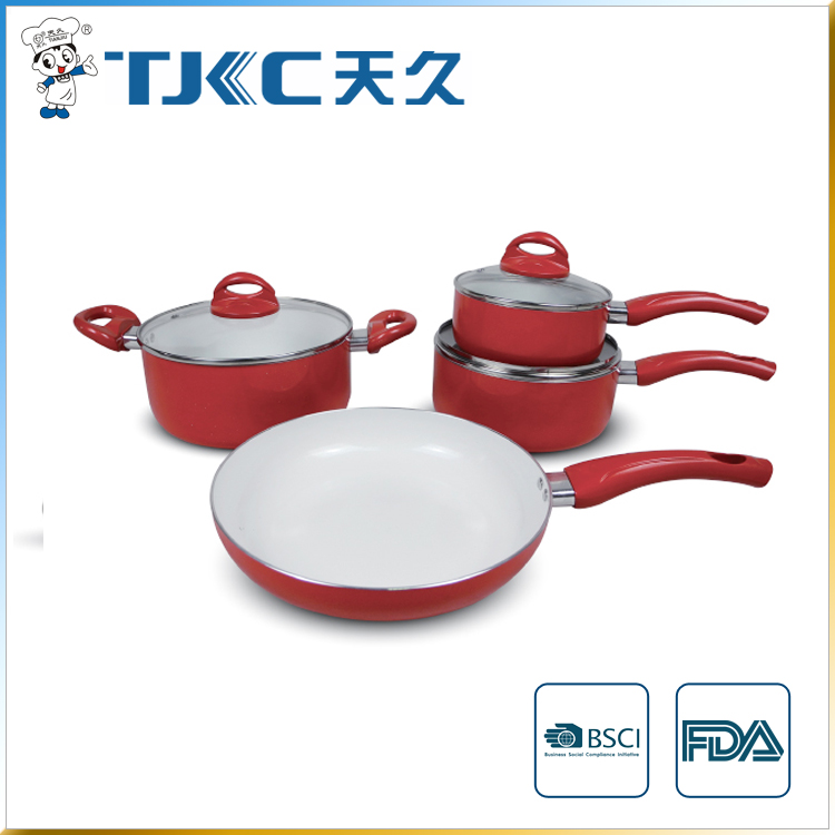 7 unids juego de ollas de cer mica juegos de utensilios de for Juego de utensilios de cocina precio