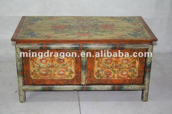 Merveilleux Chinese Antique Handmade Tibetan Coffee Table
