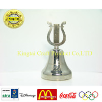 souvenir christmas metal dinner bell/table bell