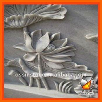 Hand carved nature stone flower reliefs sculpture buy relief