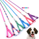 Wholesale economy pet harness polyester printing dog harness and leash