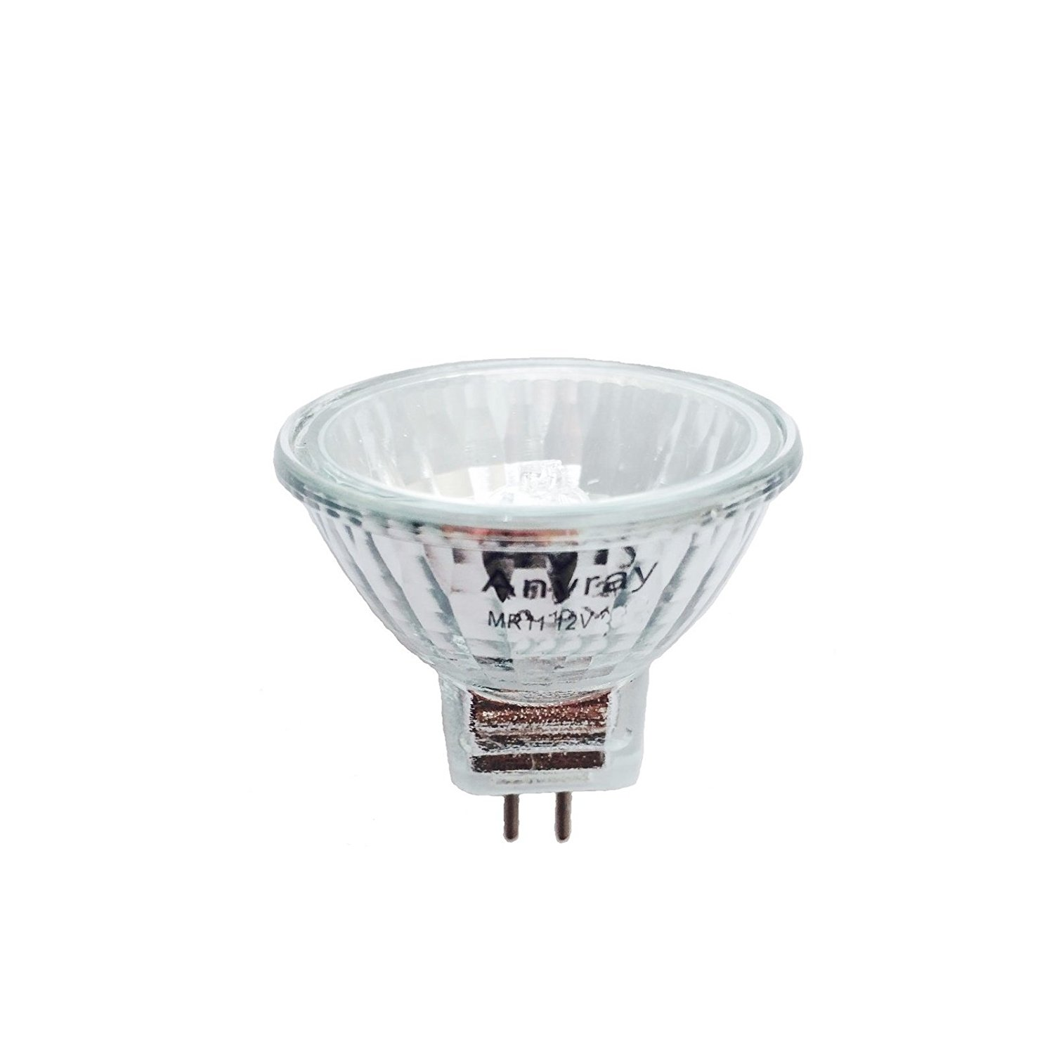 Anyray A2015Y 12-Watts MR8 12V 12W Halogen Light Bulb 12-Volts 10-Pack