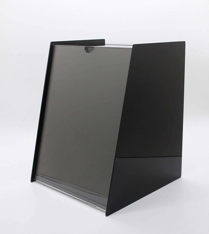 "Fixture Display 8.8""x11.0""x9.0"" Acrylic Ballot Box with 8.5 x 11 Sign Holder Pen-Black 19228!"
