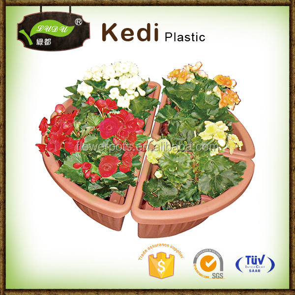 Home decorative hexagonal the price of a large plastic flower pot