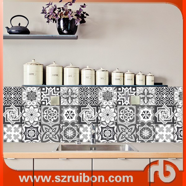 Removable Wall Kitchen Tile Stickers,wall Decor Stickers,waterproof Toilet Bathroom  Wall/floor Part 91